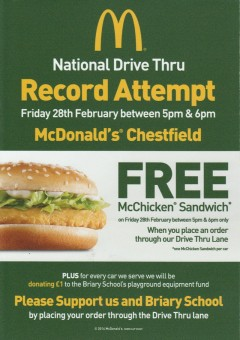 mcdonald's record copy
