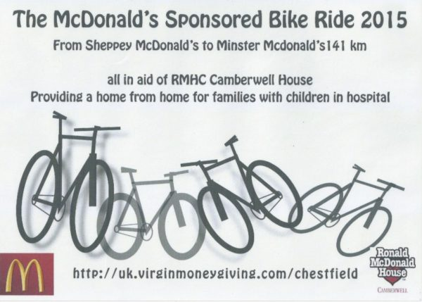 McDonald's Sponsored Bike Ride 2015 1 copy